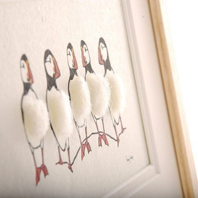 Picture - Puffins - 5 in a row