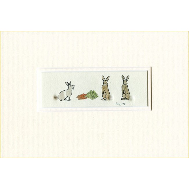 Rabbits & Carrot Picture
