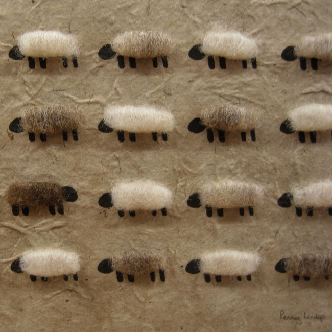 Natural Flock of Sheep Picture