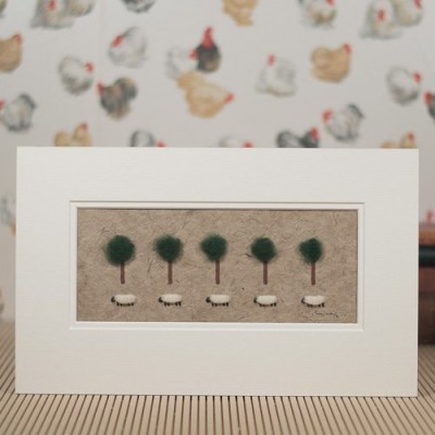 Picture Of Sheep And Trees
