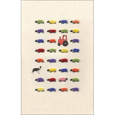 Limited Edition Print - Sheep and Red Tractor