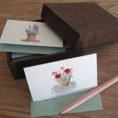 Boxed Gift Cards with Flowers