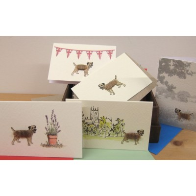 Boxed Gift Cards with Border Terriers