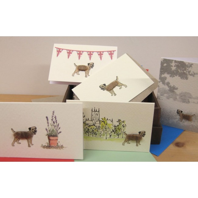 Boxed Collection of Border Terrier Gift Cards