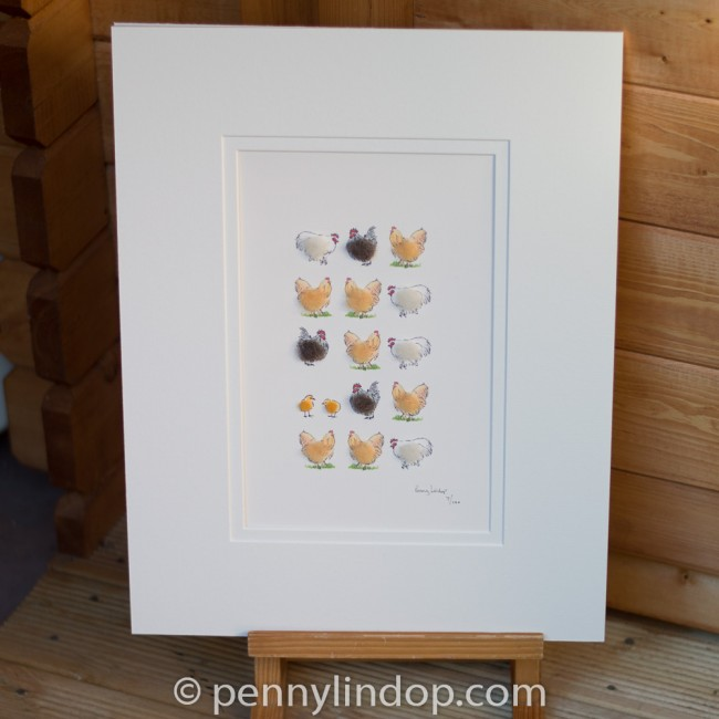 Limited Edition Print of Bantams and Buff Orpingtons