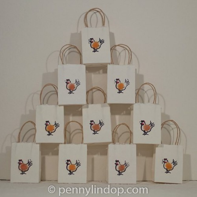 Gift Bag with Hen - Pack of 6 bags