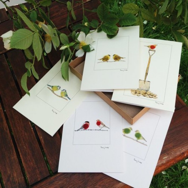 Boxed Set of Garden Birds Greetings Cards