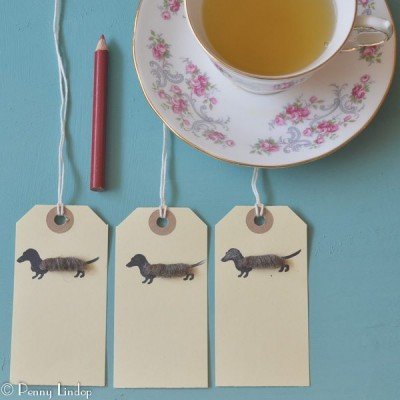 Pack of 6 Gift Tags with Dachshund