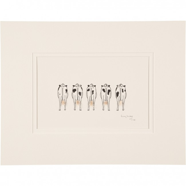 Limited Edition Print Of 5 Cows