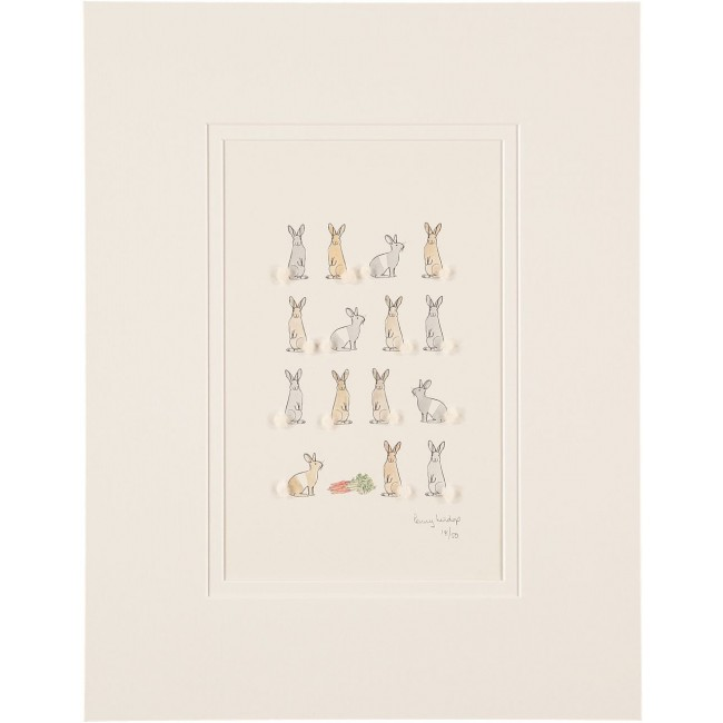 Rabbits and Carrots Limited Edition Print