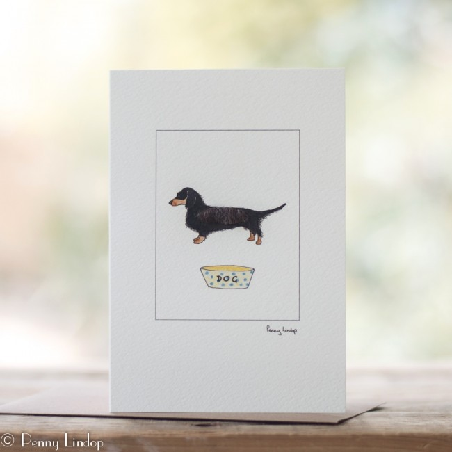 Black & Tan Dachshund Card