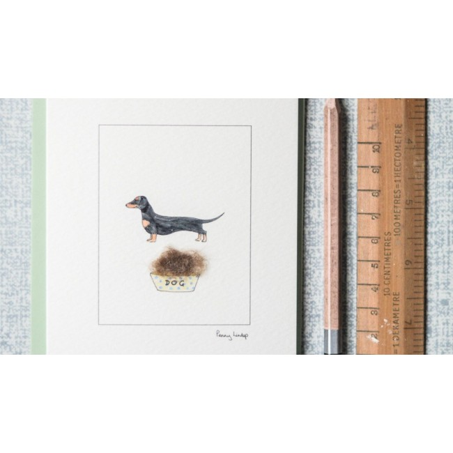 Black tan dachshund greeting card 355 penny lindop designs black tan dachshund greeting card m4hsunfo