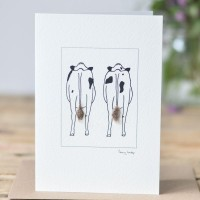 Cow Card - 2 Friesian cows