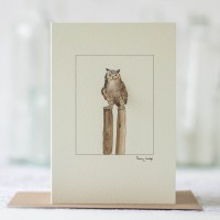 Owl Card with an Eagle Owl
