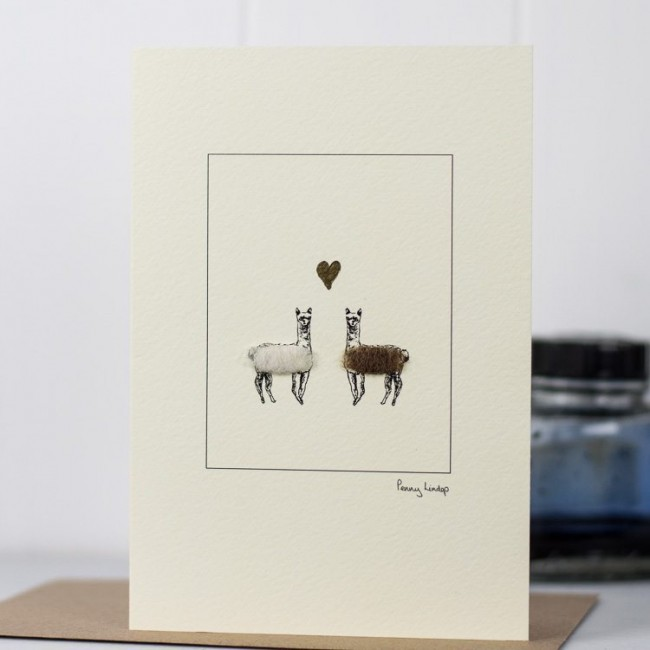 Alpacas & Heart Card