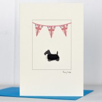 Union Jack Scottie Card