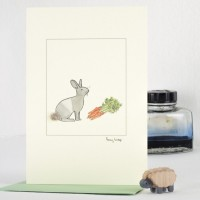 Rabbit & Carrots Card