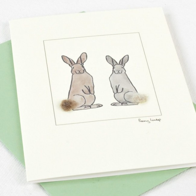 Two Rabbits Card