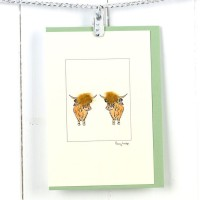 Highland Cows Card
