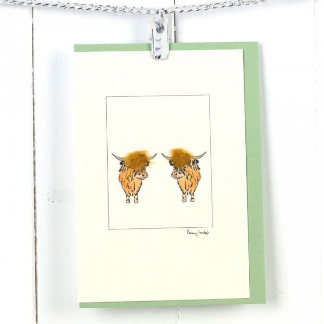 Cow Card - Highland Cows