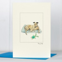 Greyhound Resting - Greeting Card
