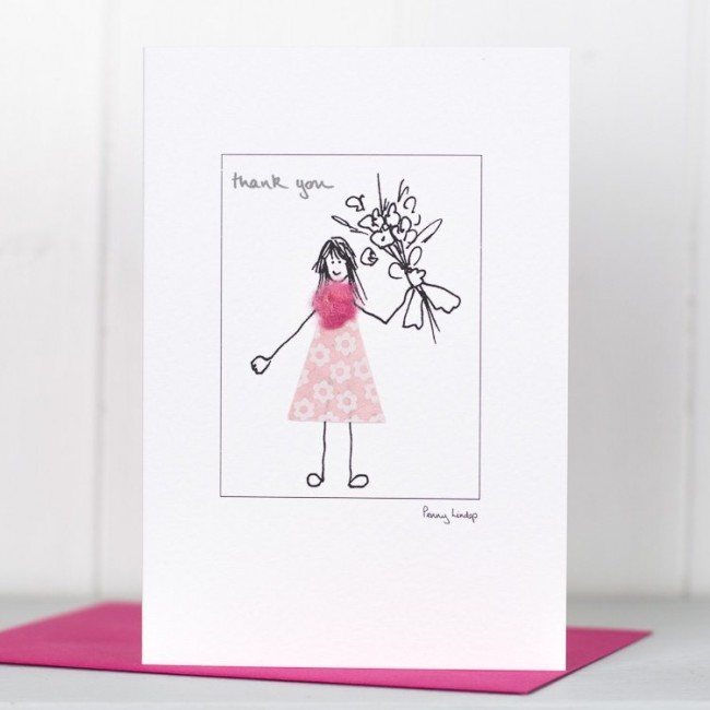 Thank YouCard - Powder Puff Girl