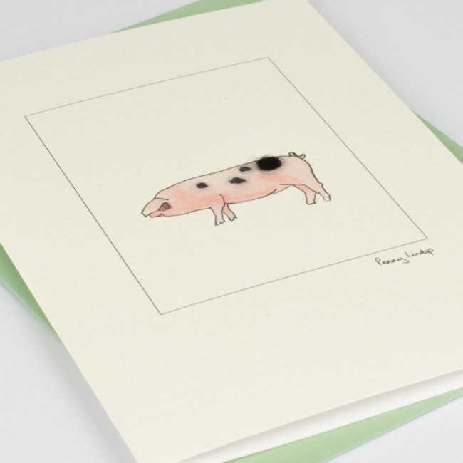Pig Card - Gloucester Old Spot