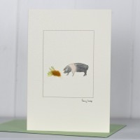 Pig Card with British Saddleback