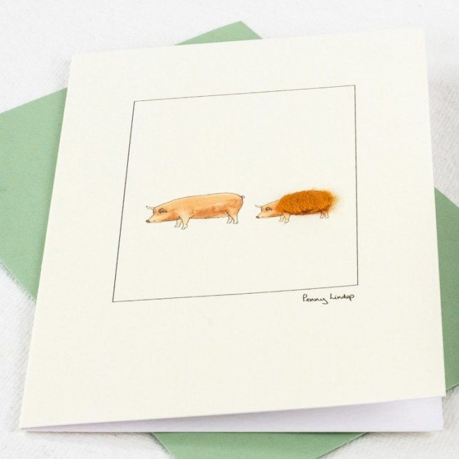 Tamworth Pig Card