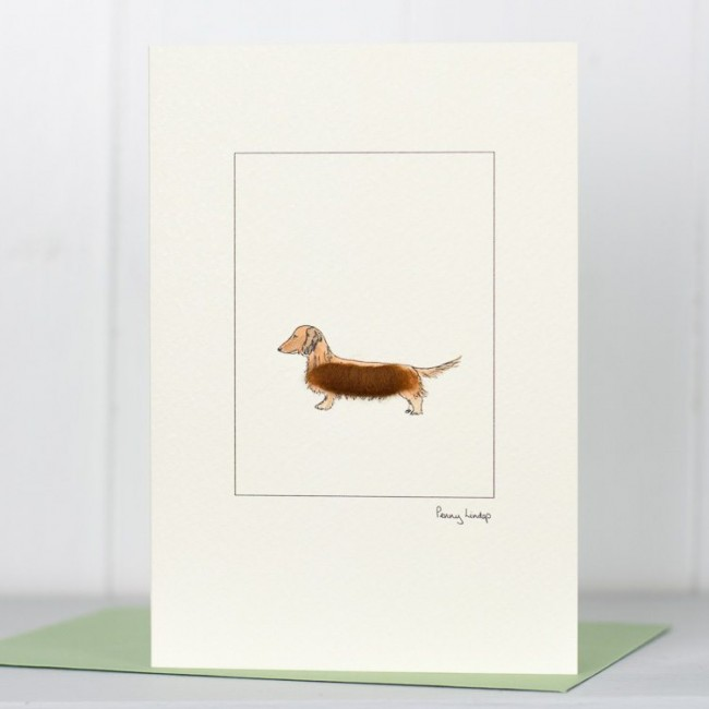 Red Dachshund Card