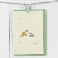 Cat card - ginger and white cat card