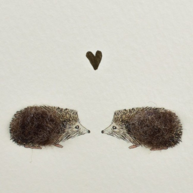 Hedgehogs & Heart Card
