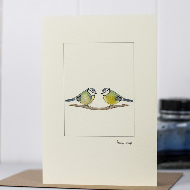 Blue Tits Card