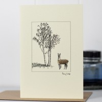Alpaca & Tree Card