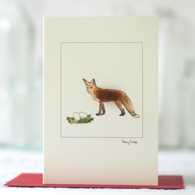 Fox & Eggs Christmas Card