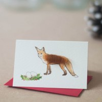 Fox Christmas Gift Cards, Pack of 4