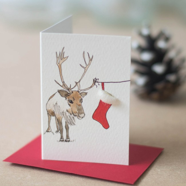 Christmas Reindeer Gift Cards - Pack of 6