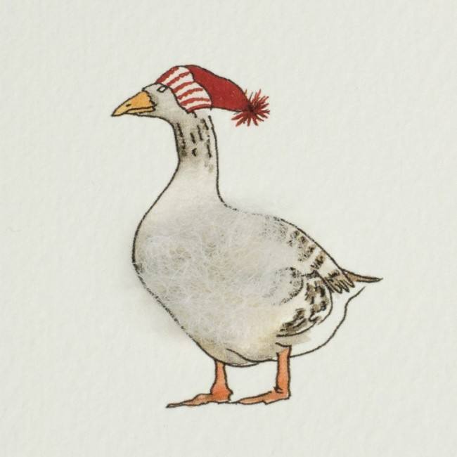 Goose & Hat Christmas Card