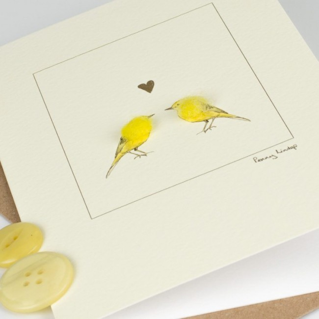 Yellow Wagtails Card