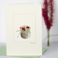 Pot of Flowers - Greeting Card