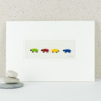 Bright Woolly Sheep Print