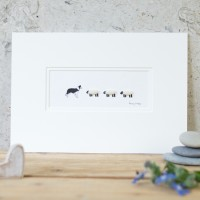 Collie and Woolly Sheep Print