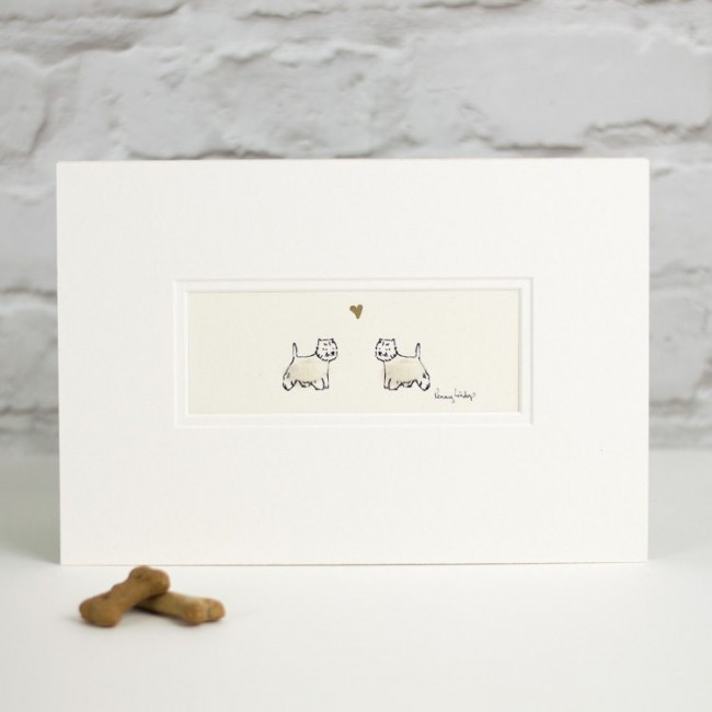 Westies in Love Print
