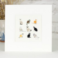 Fluffy Cats Print