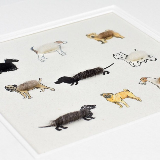 Fluffy Dogs Print