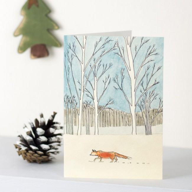 Scandi Winter Woodland Fox Christmas Card