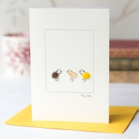 Chicken Card - Three Little Chicks