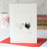 Chicken Card - Pekin Bantams