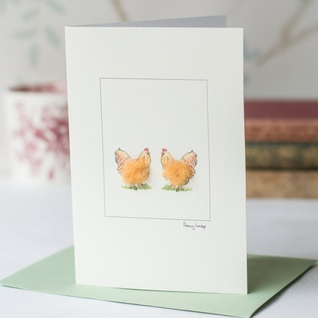 Buff Orpington Chickens Card