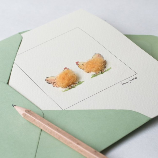 Chicken Card - Buff Orpington Hens
